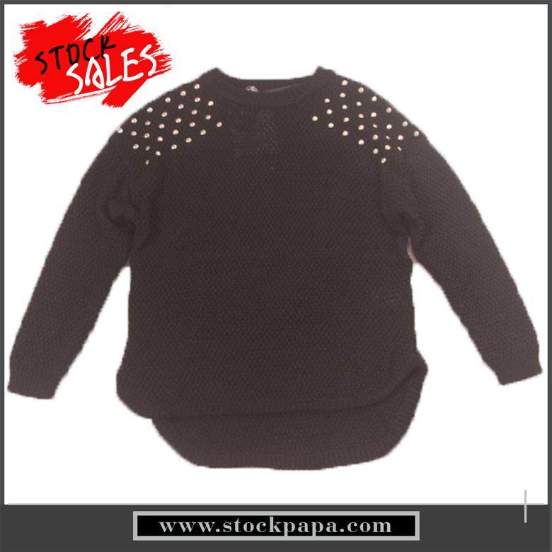 polyester stock elegant young ladies fashion sweater