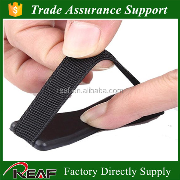 BLACK grip your smartphone New Portalbe Mobile Phone Handle Finger Grip Stand Holder Elastic Belt Strap for iphone
