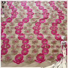 New style African velvet chemical lace embroidery fabric for garment