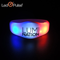 Popular Custom Sound Activated Light Up Flashing LED Glow In The Dark Bracelet