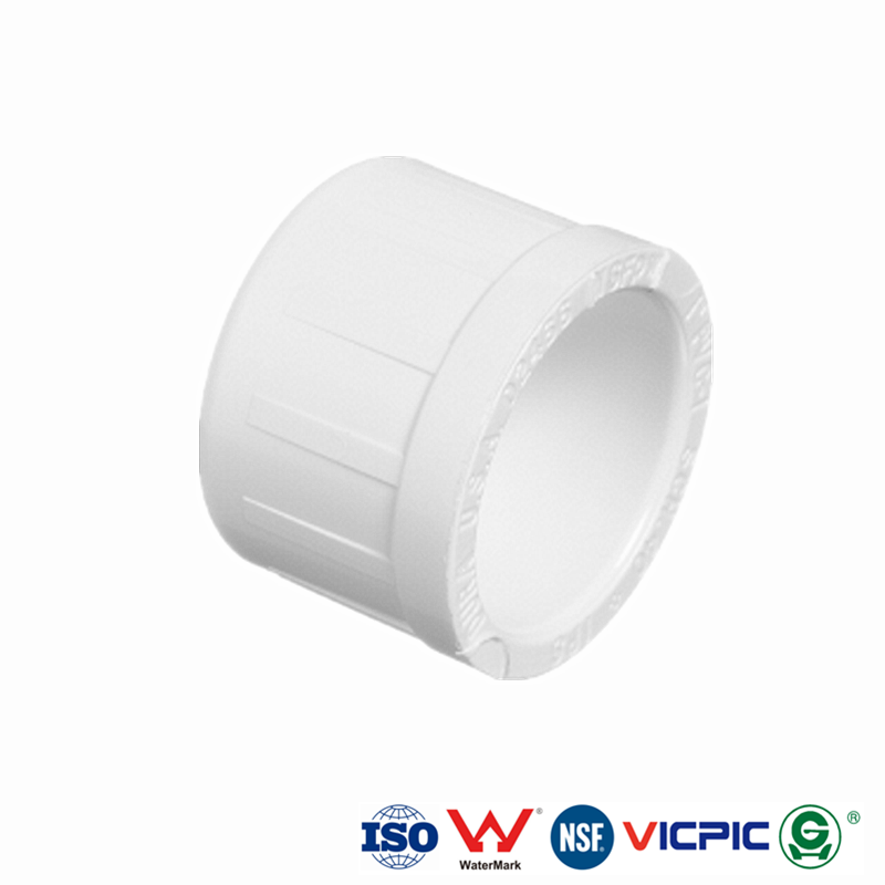 Domed Style Cap Slip PVC Fittings Schedule 40 ASTM D 2466 NSF Approved