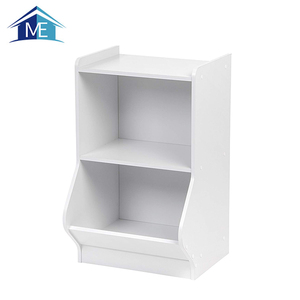 Supply Professional Wooden White Kids Toy Storage Shelf Cabinets