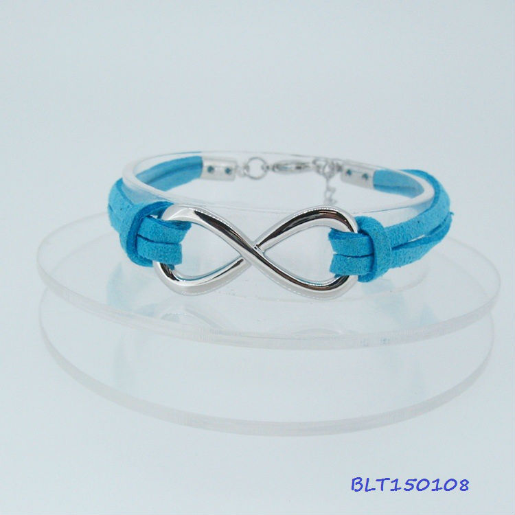Hot 2013 lady's WGP infinity Leather wish bracelet