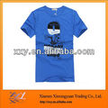 Blue Cotton Men Wholesale Chinese T-Shirt Clothing Printing