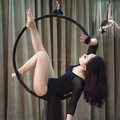 Professional High Strength 600KGS Stainless Steel Aerial Hoop Equipment Professional Custom Aerial Lyra Hoop Yoga