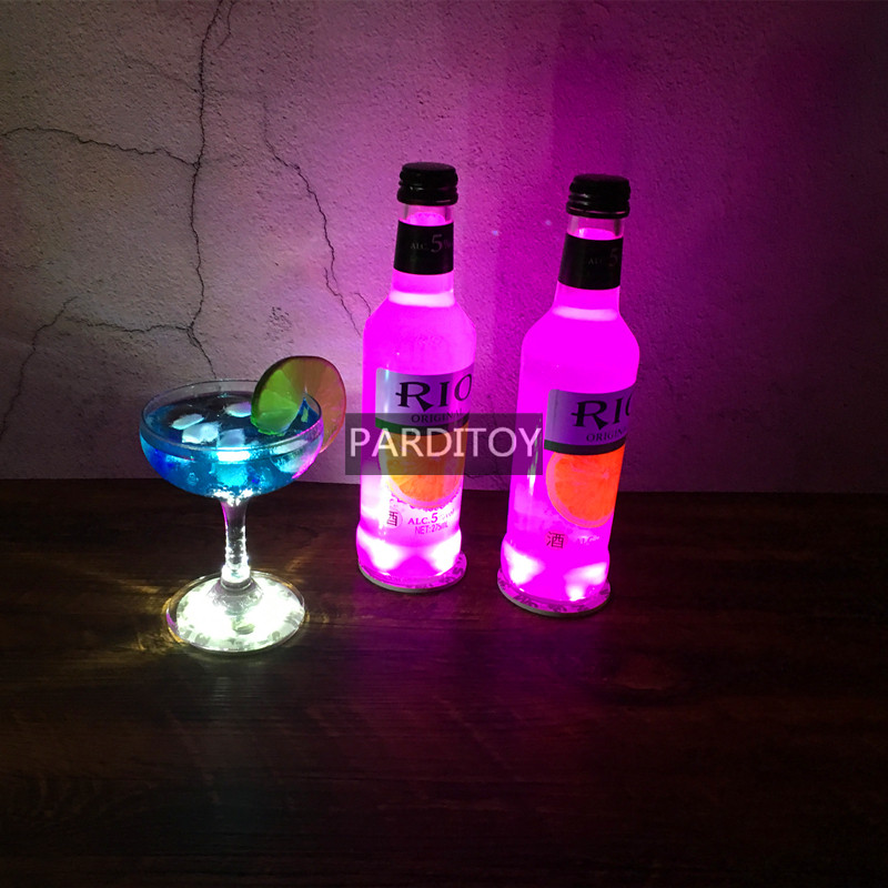 HOT LED bottle light up sticker coaster for bottle display