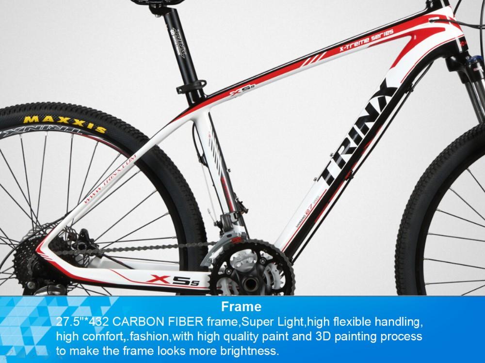 Trinx New Design 27.5 Inch Carbon Fiber Mountain Bike X5s Most ...