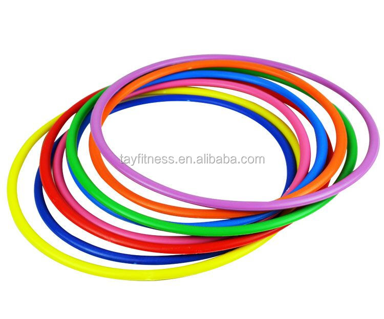 Plastic kids fun fitness hula hoops for playing