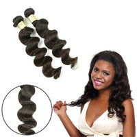 Free shipping for 3pcs a lot indian loose wave cambodian human hair bulks