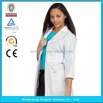Doctor Gown White Lab Coat Medical Lab Coat