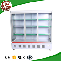Upright chiller /vegetable Refrigerated Showcase for supermarket