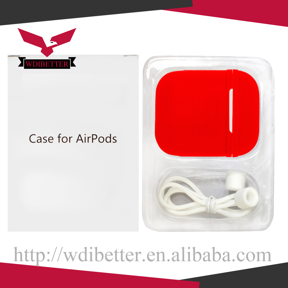 2017 New Promotional Gift Silicone Bag Pouch For Apple Airpods Free LED Strap