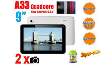 "9"" Capacitive Multi Touch screen Android 4.4 Tablet PC A33 Quad-core 1.2 GHZ 8GB WIFI 802"