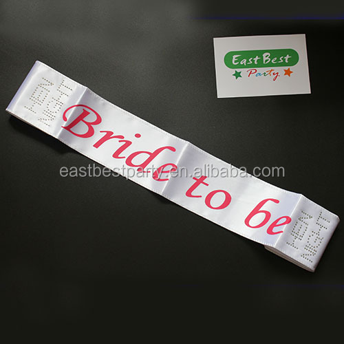 White Girls Night Out Hen Party Satin Bride To Be Sash
