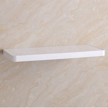Modern bathroom decoration material wall hanging white 18mm ABS shelf