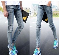 pencil jeans for men front to back zipper jeans from China guangzhou jeans factory