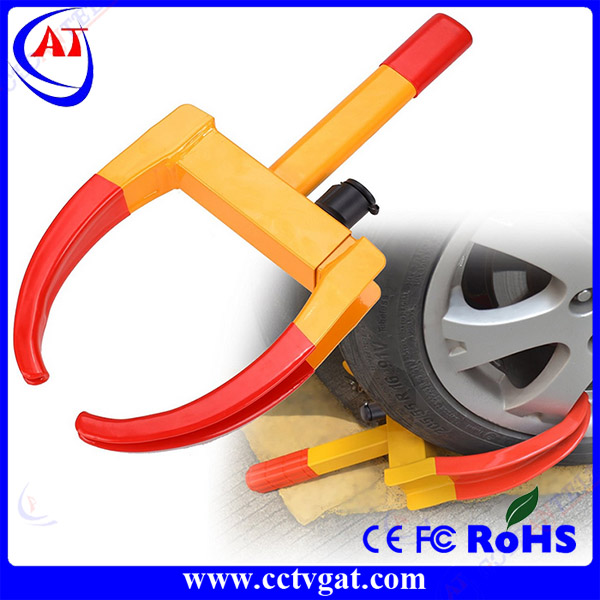 Heavy duty anti-theft car wheel clamp tire lock