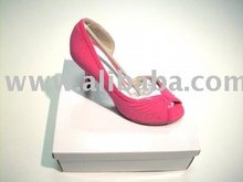 Ladies Shoe In Passionate Pink