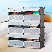12 cubes good quality shoe cabinets white plastic storage box (FH-AW0181214-12)