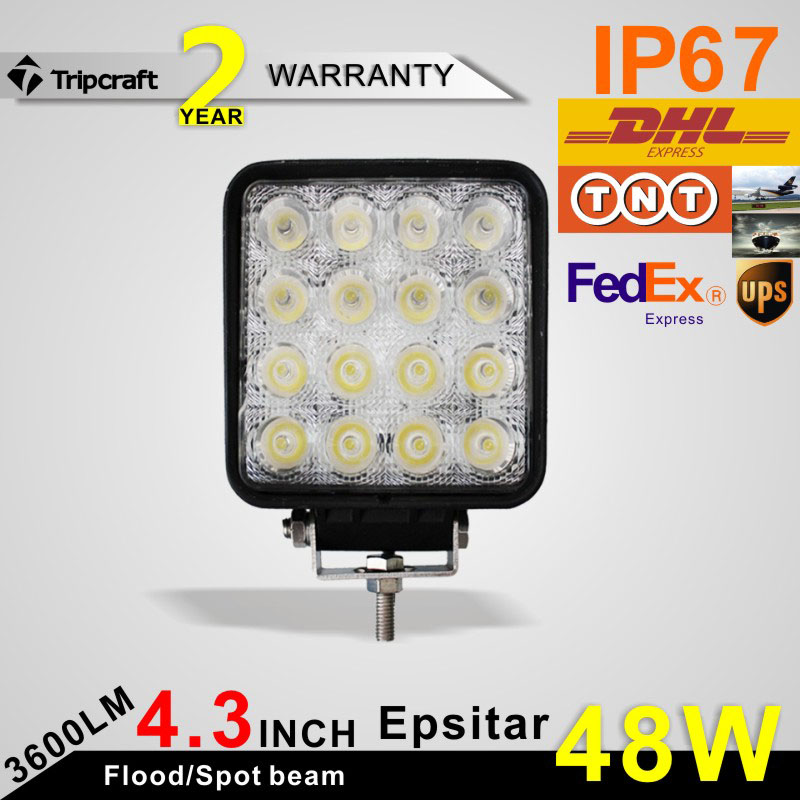 "Huge promotion !Super bright 4"" inch 48w led work light offroad,waterproof led tractor working lights,12v 24v led off road light"