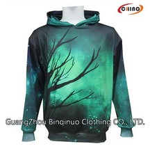 Sublimation Unisex Hoodie with Zipper