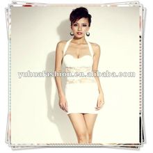 Ladies Sexy Lace Transparent Club Dress