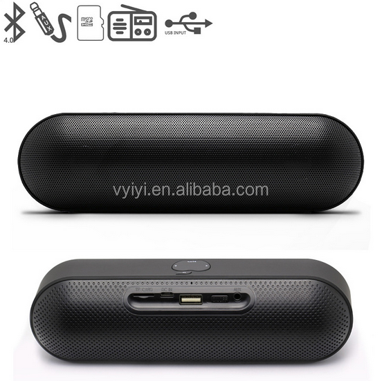 2017 New Amazon Hot Sale 1200mAh S812 Wireless Bluetooth Pill Speaker With TF USB port FM Radio Selfie Bluetooth Speaker S812