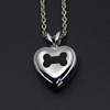 300 Styles lovely Dog keepsake urn jewelry wholesale bone inlay heart shape stainless steel cremation pendant for pet ashes P177