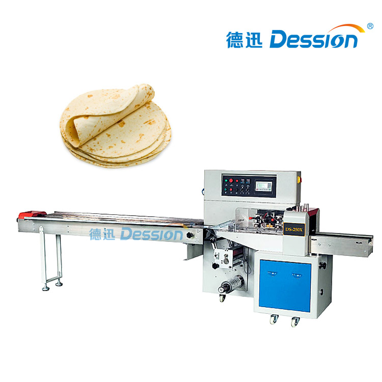 Hffs Packaging Machine For Tortillas With Automatic Food Packaging Machine
