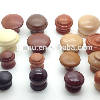 FSC custom size wooden curtain rods wooden furniture knob for drawer