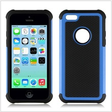 PC Silicone Rugged Cell Phone Case For iPhone 5C New Arrival Case