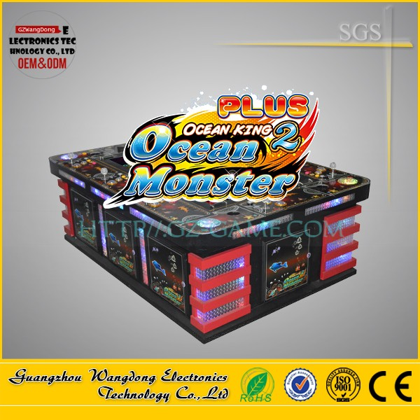 Most popular 2016 video arcade catching fish, Ocean King 2 Golden Legend/Ocean Monster 3 game machine
