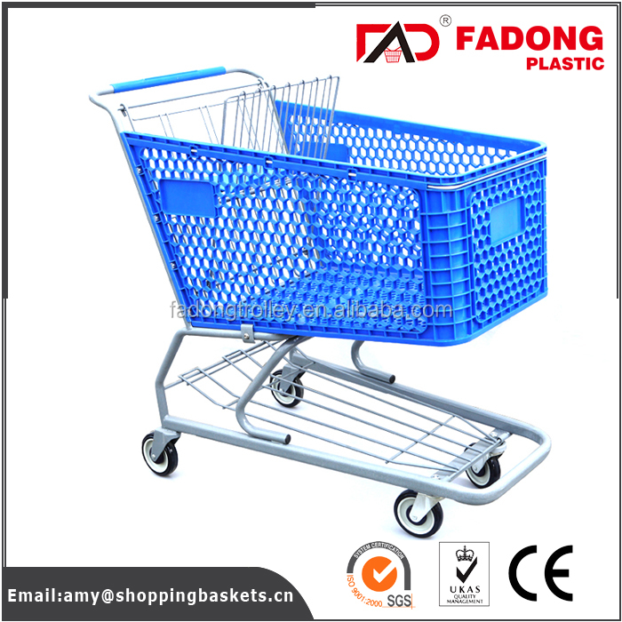 Second hand foldable shopping trolleys with metal stand