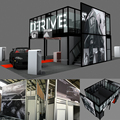 Detian Display custom two storeys exhibition double deck stand for trade show from shanghai