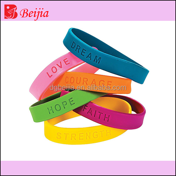 Custom colorful silicon mosquito repellent bracelet for kid