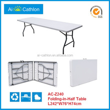 8FT Portable Plastic Folding Table,Suitcase Foldable Table (Blow mold,HDPE,Powder-Coated)