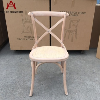 Natural Color Wooden Cross Back Chair