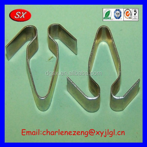 ISO / CE / ROHS customized v clip spring Steel Spring Hold Down Clip