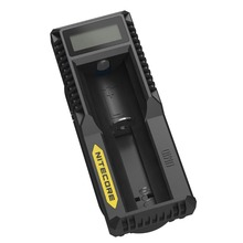 High Quality Universal Smart 18350 Charger USB Single bay charger Nitecore UM10 Li-ion Battery LCD Charger