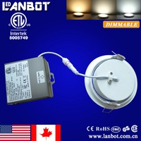 ETL(5005749) approval 10W gimbal led downlight with IC Rated driver junction box