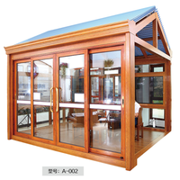 aluminum frame unbreakable glass sunroom with ceiling panels