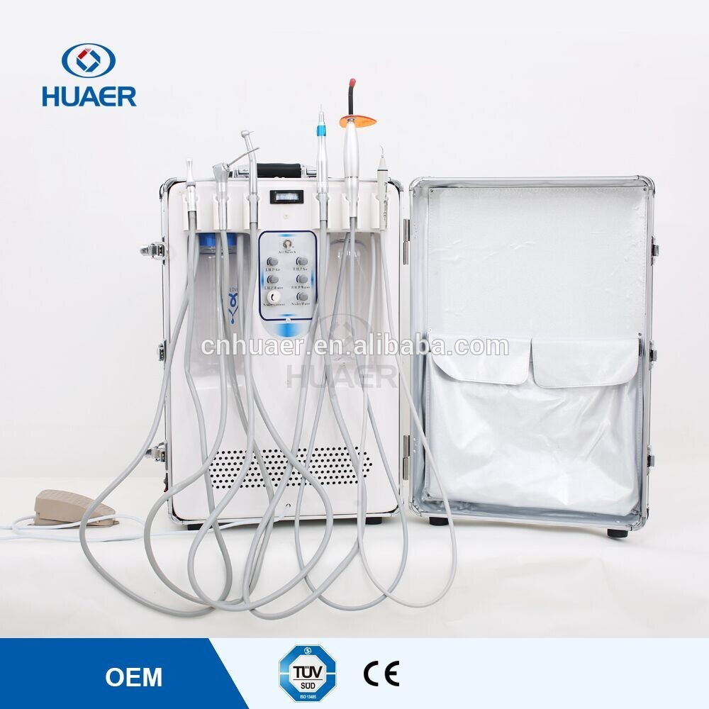 Super Dental Portable Unit Portable Dental Delivery Treatment Cart Unit Equipment Mobile & Compressor