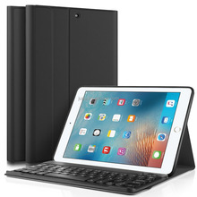 Ultra Lightweight Stand Portfolio cover case with Detachable BT Keyboard for Apple New iPad 9.7 2017 tablet case