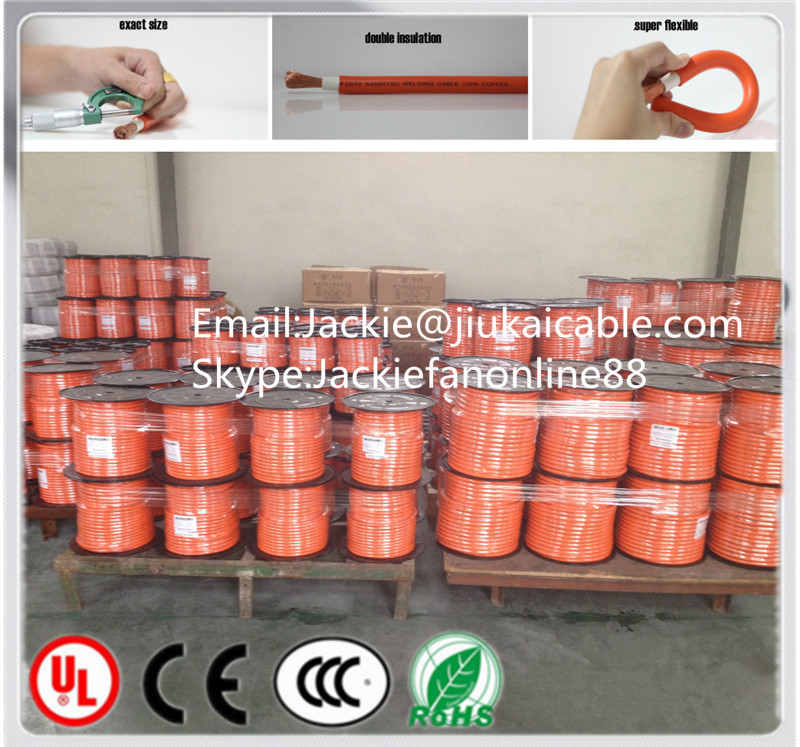 Orange Rubber welding cable for sale welding cable esab welding electrode e7018