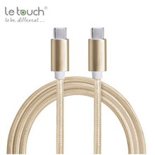 Free samples Nylon Braided Type C to Type C Cable for USB Type-C Devices
