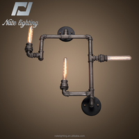 INDUSTRIAL VINTAGE STYLE PIPE WALL LIGHTS