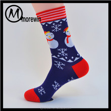 Morewin Brand custom colorful print men socks christmas fashion tube socks