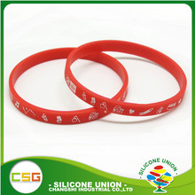 Customized reusable kids/adults/male/female/funny silicone printed wristbands Sedex 4P accredited