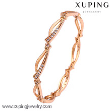50825- Xuping Different size simple design gold jewellery bangles