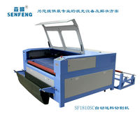 automatic feed CO2 double heads laser cotton ,cloth , silk , fabric cutting machine for sale